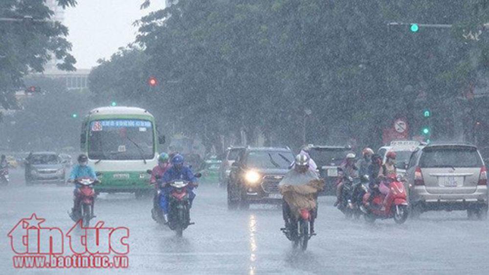 Đêm 24-5, nhiều vùng có mưa dông, đề phòng thời tiết nguy hiểm